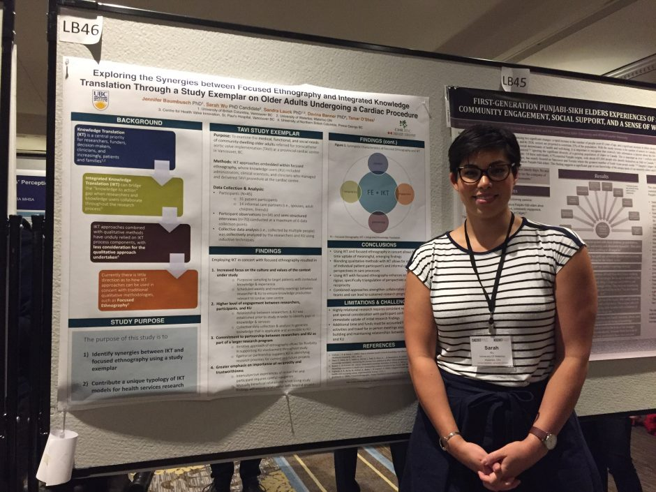 Sarah Wu presenting a poster on TAVI at the CAG