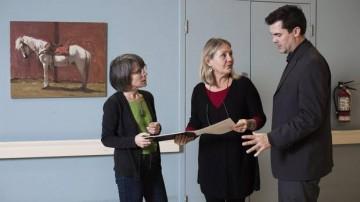 Alison Phinney, left, Landon Mackenzie, centre, and Michael Wilson